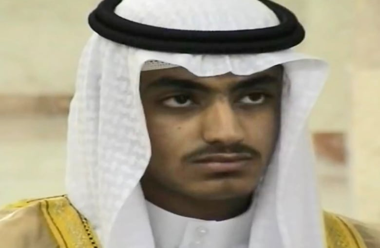 A screen grab from an undated handout video made available in 2018 by the Central Intelligence Agency (CIA) shows Hamza bin Laden, the son of late al-Qaeda leader Osama bin Laden.(EPA-EFE)