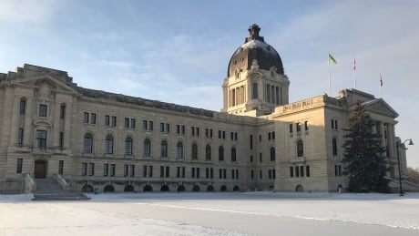 Sask legislature winter