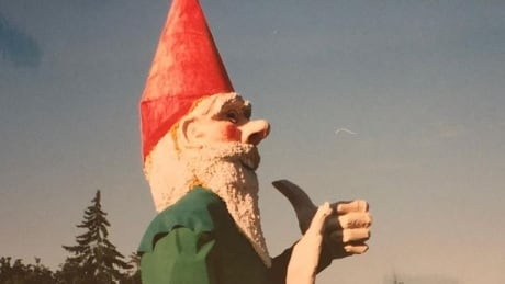 Goodbye gas station, hello Gnome Man's Land: 8 metre-high Howard has found a new home