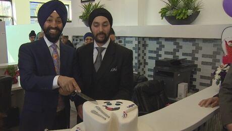 Dr. Harpreet Dhillon, left, and Dr. Belrup Singh Patrola Strive Dental Clinic Surrey