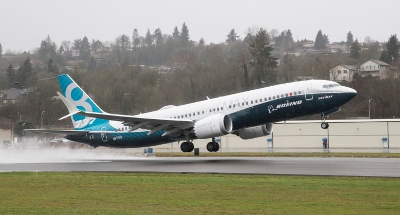 A Boeing 737 MAX 8 airliner lifts off for its first flight in Renton, Wash., in January 2016. (Stephen Brashear/Getty Images)