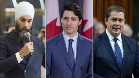 Trudeau Scheer Singh composite