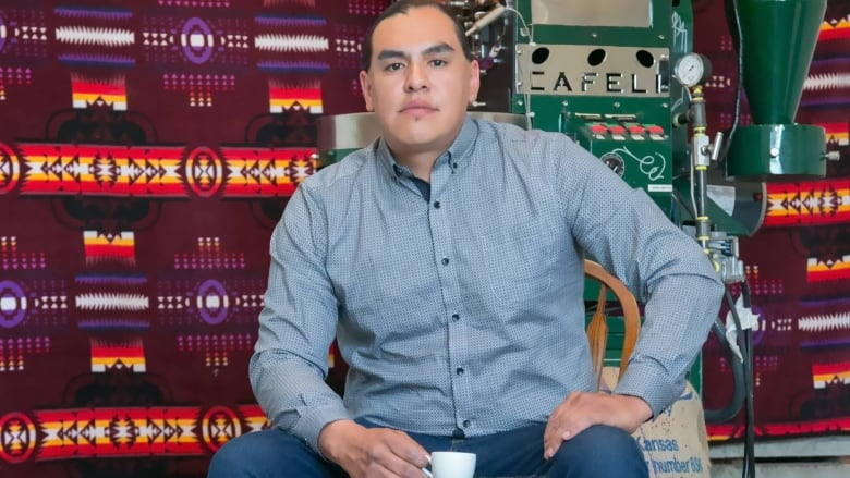Meet Dylan Tootoosis, the owner of Cree Coffee Company