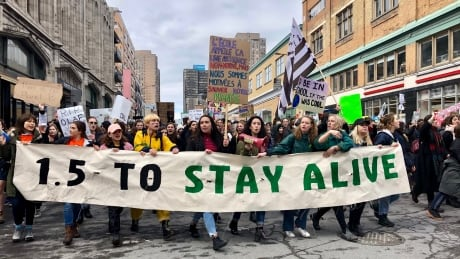 Tens of thousands rally in Montreal as part of international 'school strike' against climate change