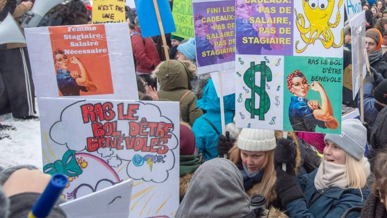 Thousands of Quebec students launch week-long strike against unpaid internships