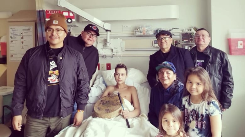 'They uplifted his spirits': Northern Cree performs for fan in London hospital