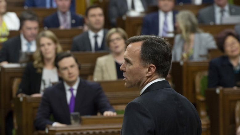Morneau's budget speech drowned out by shouts of 'let her speak'