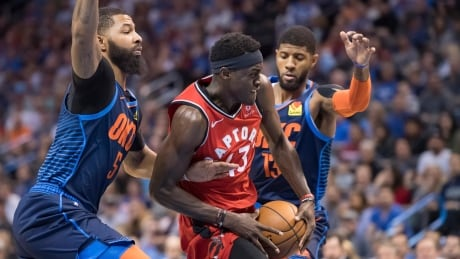 Raptors pull off OT win against Thunder after squandering lead
