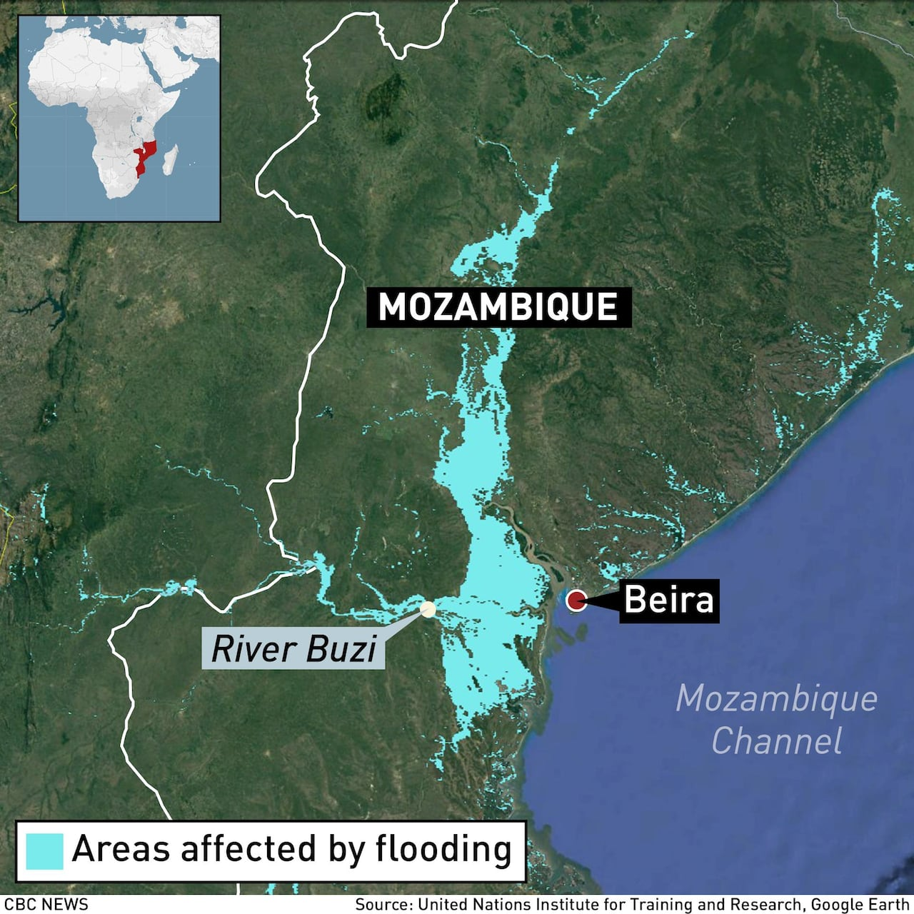 Cholera reported in Mozambique in wake of Cyclone Idai | CBC News
