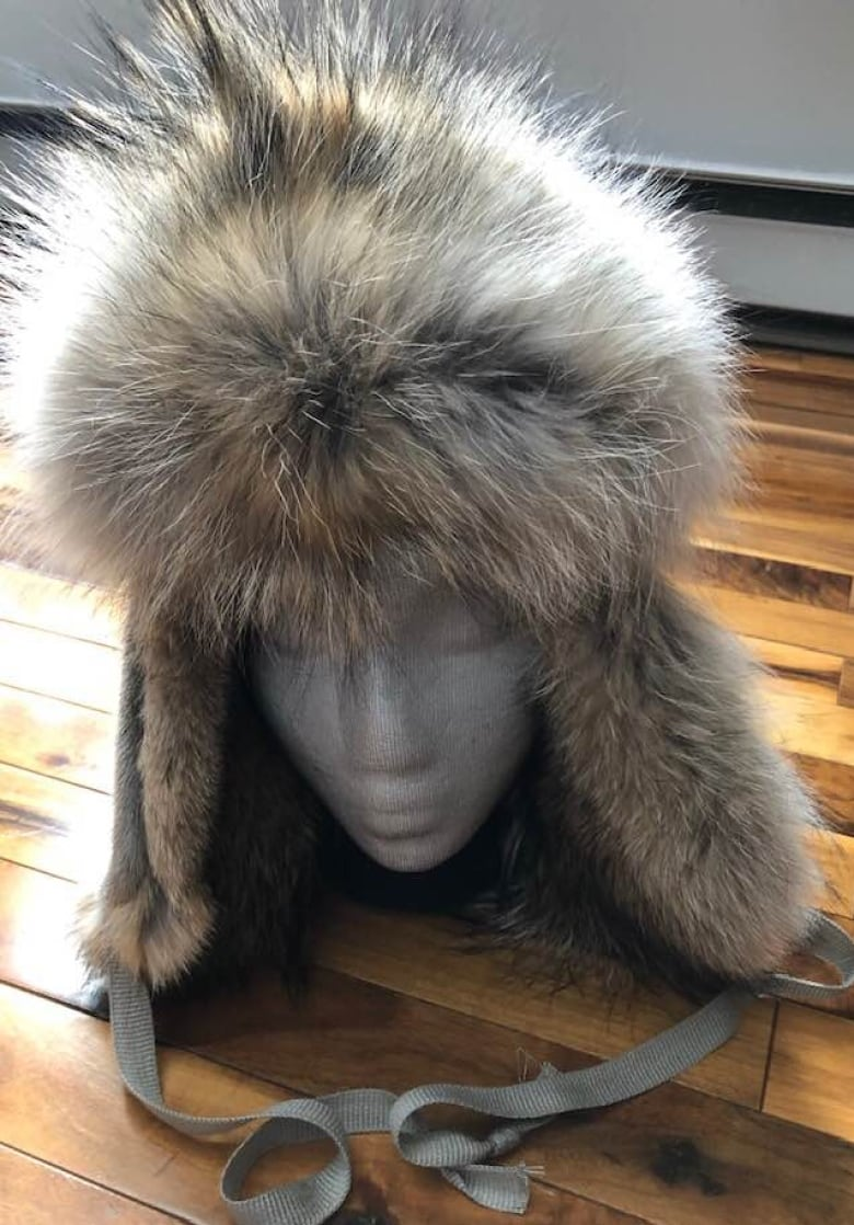 Sandra Rideout s handmade wolf fur hat. (Courtesy of Sandra Rideout) f23f839106cf