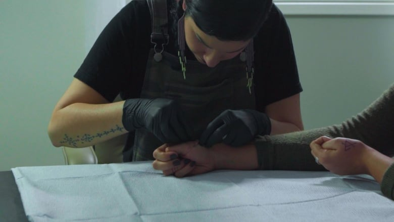 Skin stitch tattoos are exactly what they sound like — and for Amy Malbeuf, they embody culture