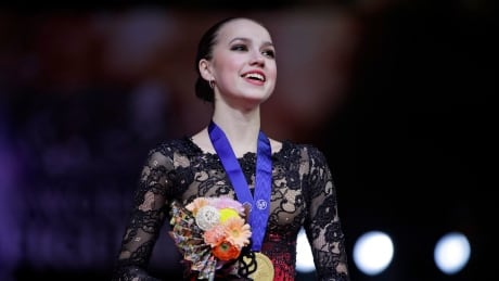Olympic gold medallist Alina Zagitova earns 1st world figure skating title