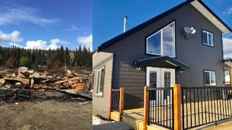 Couple who lost home in B.C. wildfire settle into new house