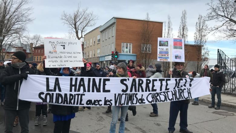 People rally against racism in Quebec City, express support for New