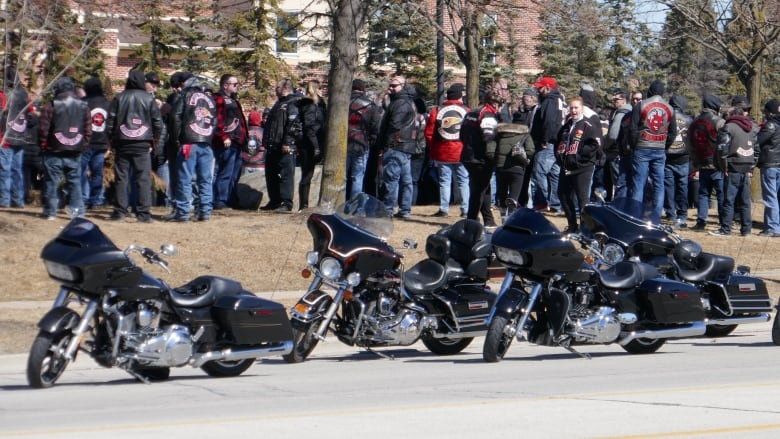 Dozens of bikers attend funeral for Hells Angels member