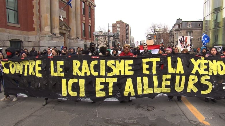 Montrealers take to the streets for anti-racism demonstration