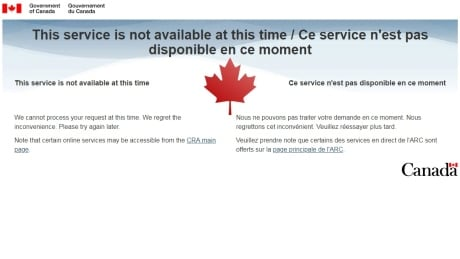 CRA cites 'technical issues' after website goes down