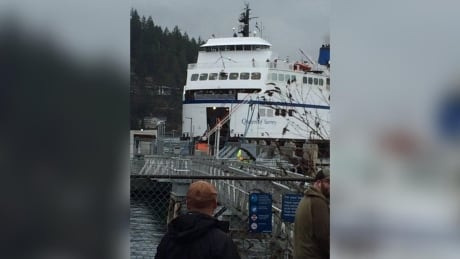 BC Ferries ship runs into dock at Langdale terminal