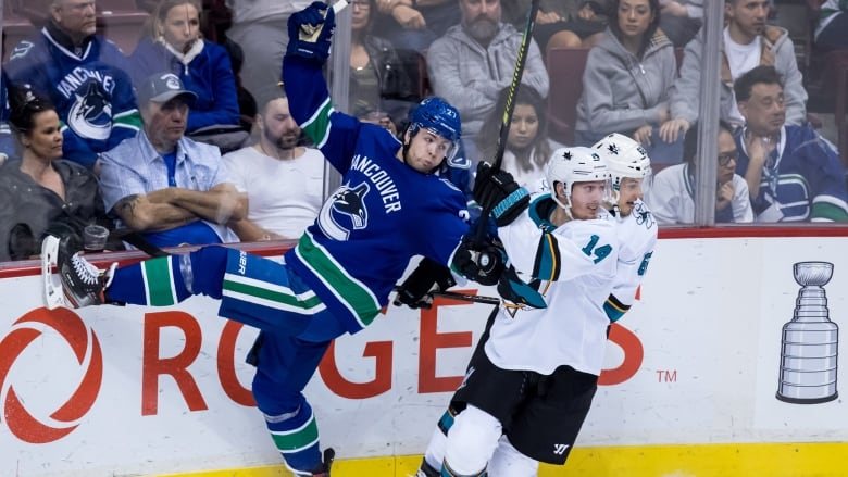 big sale 2564e 35cc7 Canucks storm back with 3-goal 3rd period to top Sharks ...