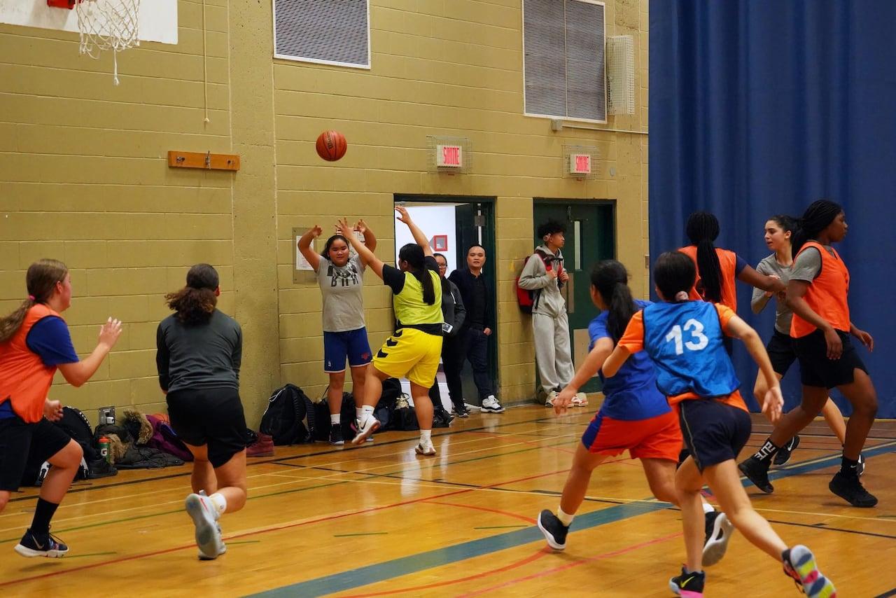 This Girl Plays Basketball Girls Childrens Kids Tee T-Shirt