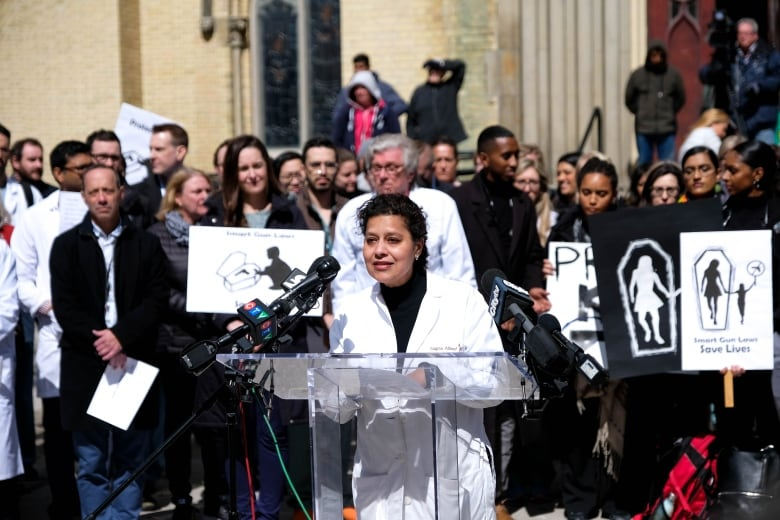 Doctors, health professionals march for stronger gun laws