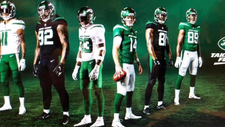 innovative design 96aa2 67644 Leaked New York Jets uniforms draw comparison to ...