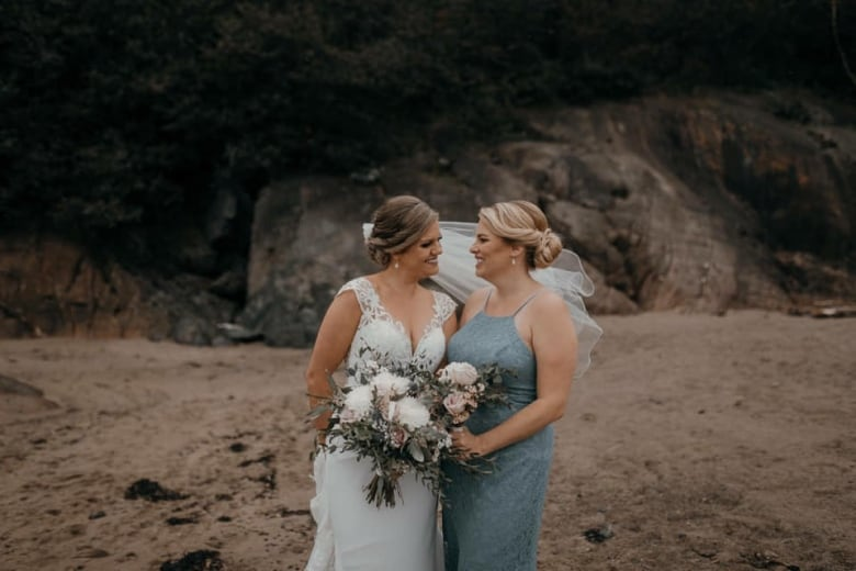 ae2166c502 Rachel Hogan, right, with friend Charlotte Power, one of the many brides  who have considered her their BFF. (Courtney Gallery)