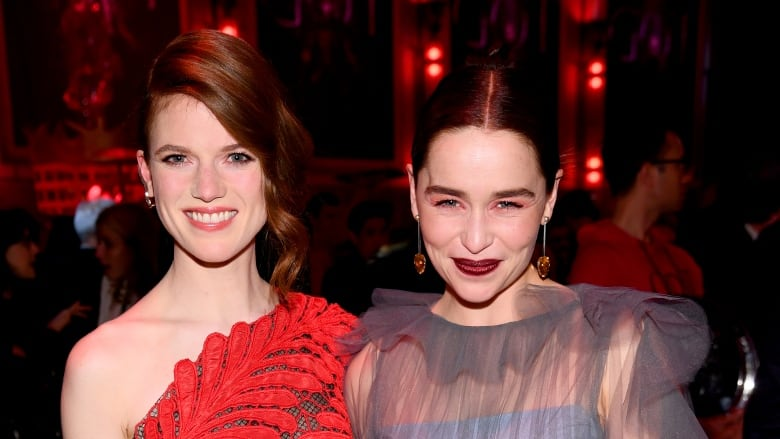 Rose Leslie and Emilia Clarke pose together following the ...