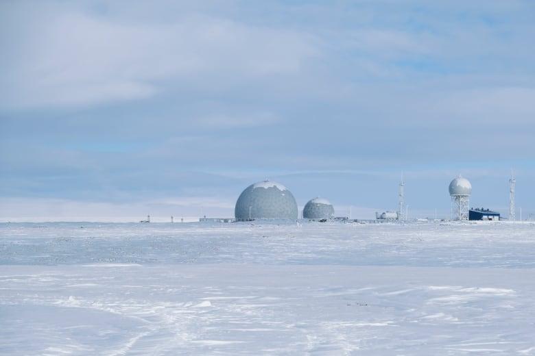 This photo shows a radar facility on Kotelny Island.(AP Photo/Vladimir Isachenkov)