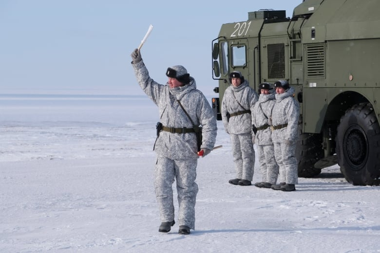 Russian troops conduct training with a Bastion missile launcher.(AP Photo/Vladimir Isachenkov)