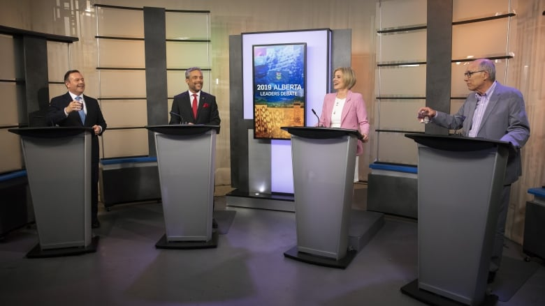 Alberta party leaders trade accusations in debate