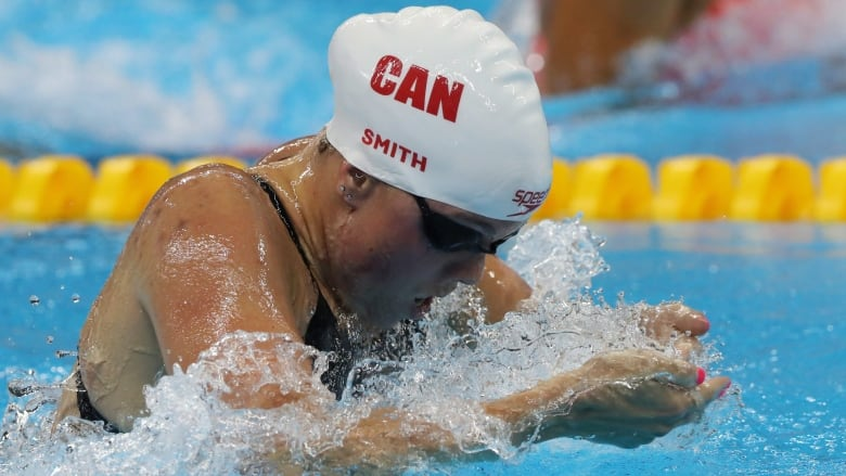 a2601e8844 Kierra Smith, pictured above at the Rio Olympics, won the women's 100-metre  breaststroke at the Canadian trials on Thursday. (Lee Jin-man/The  Associated ...