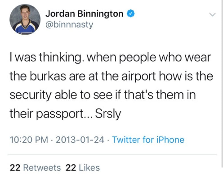 e27fd6a34d1 Rookie St. Louis goalie phenom addresses old tweets about burkas ...