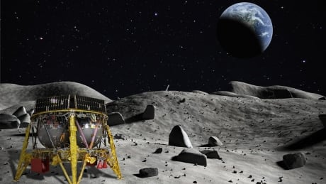 Israeli spacecraft on moon