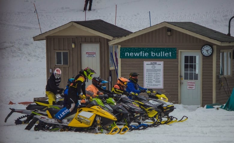 Snowmobilers take over Marble Mountain for Race on the Rock