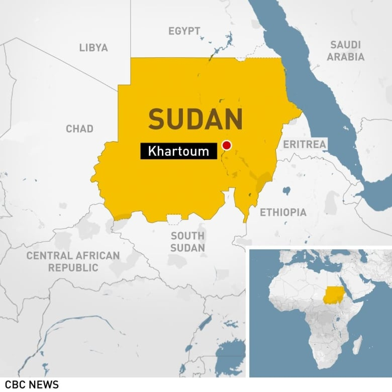 Ousted Sudanese president Bashir moved to prison | CBC News on barcelona location on world map, stockholm location on world map, red sea location on world map, united states location on world map, bangalore location on world map, warsaw location on world map, frankfurt location on world map, melbourne location on world map, athens location on world map, mogadishu location on world map, mexico city location on world map, vancouver location on world map, bogota location on world map, lagos location on world map, santo domingo location on world map, toronto location on world map, santiago location on world map, hong kong location on world map, brussels location on world map, auckland location on world map,