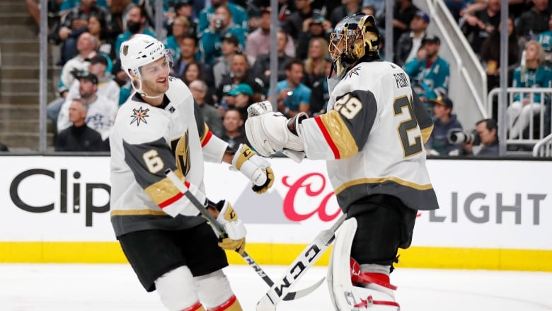 Pavelski's painful goal leads Sharks past Golden Knights in Game 1