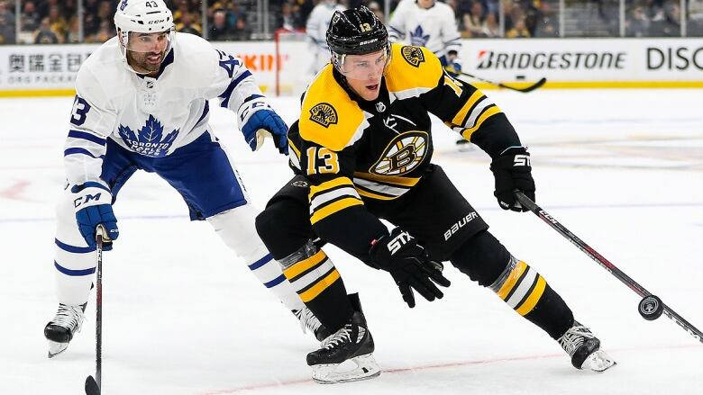 Nazem Kadri ejected from Game 2 after cross-check to Jake DeBrusk