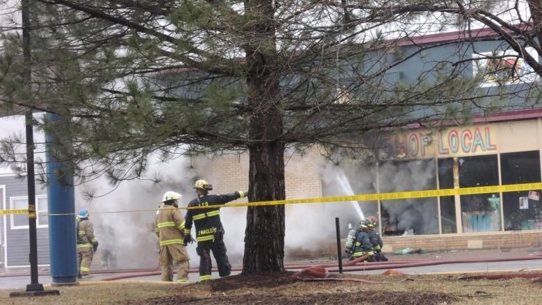 Fire destroys store in downtown Pictou, N S , months after