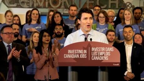 Prime Minister Justin Trudeau Kitchener Communitech tech job hub announcement