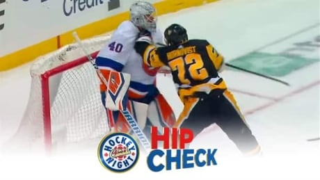 Hip Check: Patric Hornqvist drops the gloves with Robin Lehner