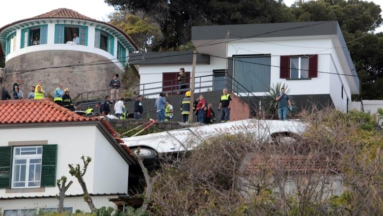 Dozens dead in tourist bus crash in Portugal