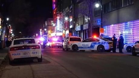 Montreal police arrest 9 after crowd leaving show blocks traffic, lights fires
