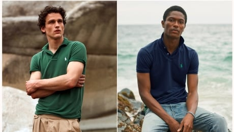 From Ralph Lauren, a Polo shirt made entirely of recycled plastic