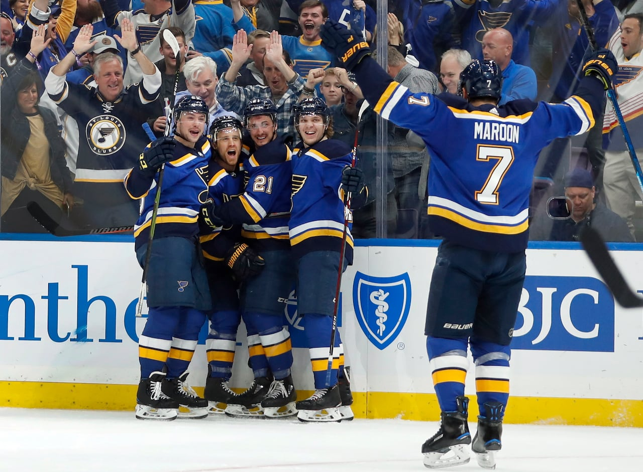 32b7acfa225d Jets eliminated by Blues as Jaden Schwartz nets natural hat trick ...