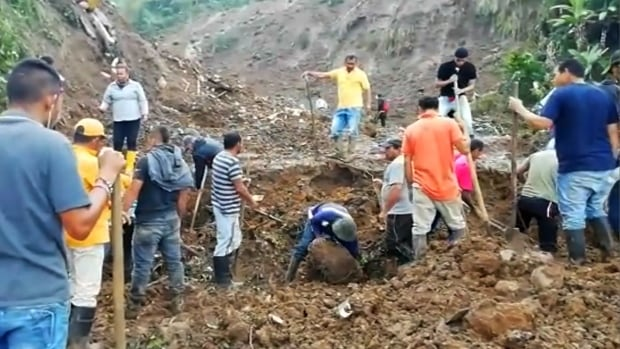 At least 14 killed in Colombia landslide