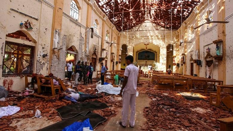 Image result for sri lanka bomb dead bodies
