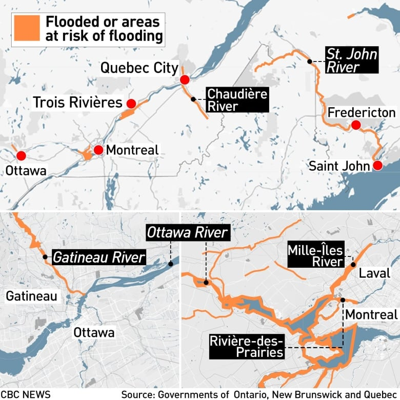 Quebec flooding forces almost 1,700 from their homes | CBC News