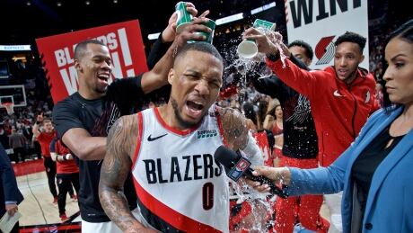 Blazers' Lillard waves goodbye to Thunder with impossible buzzer beater