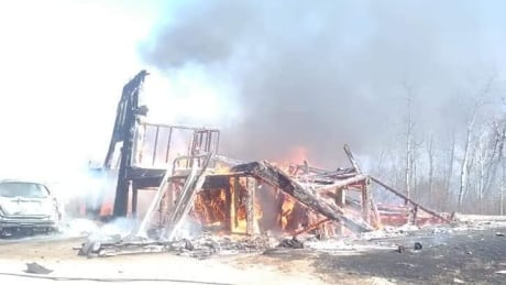 'Nothing here for us now': Northern Sask. family reeling after house burns to the ground